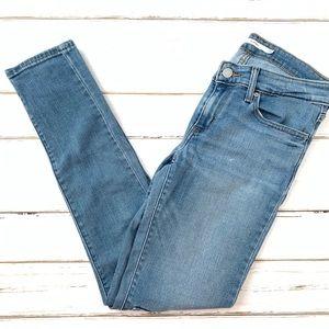 Levi 711 Skinny Jeans w/ Knee Patchwork Size 28